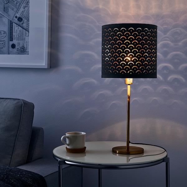 NYMÖ lamp shade black/brass-colour 23 cm 24 cm