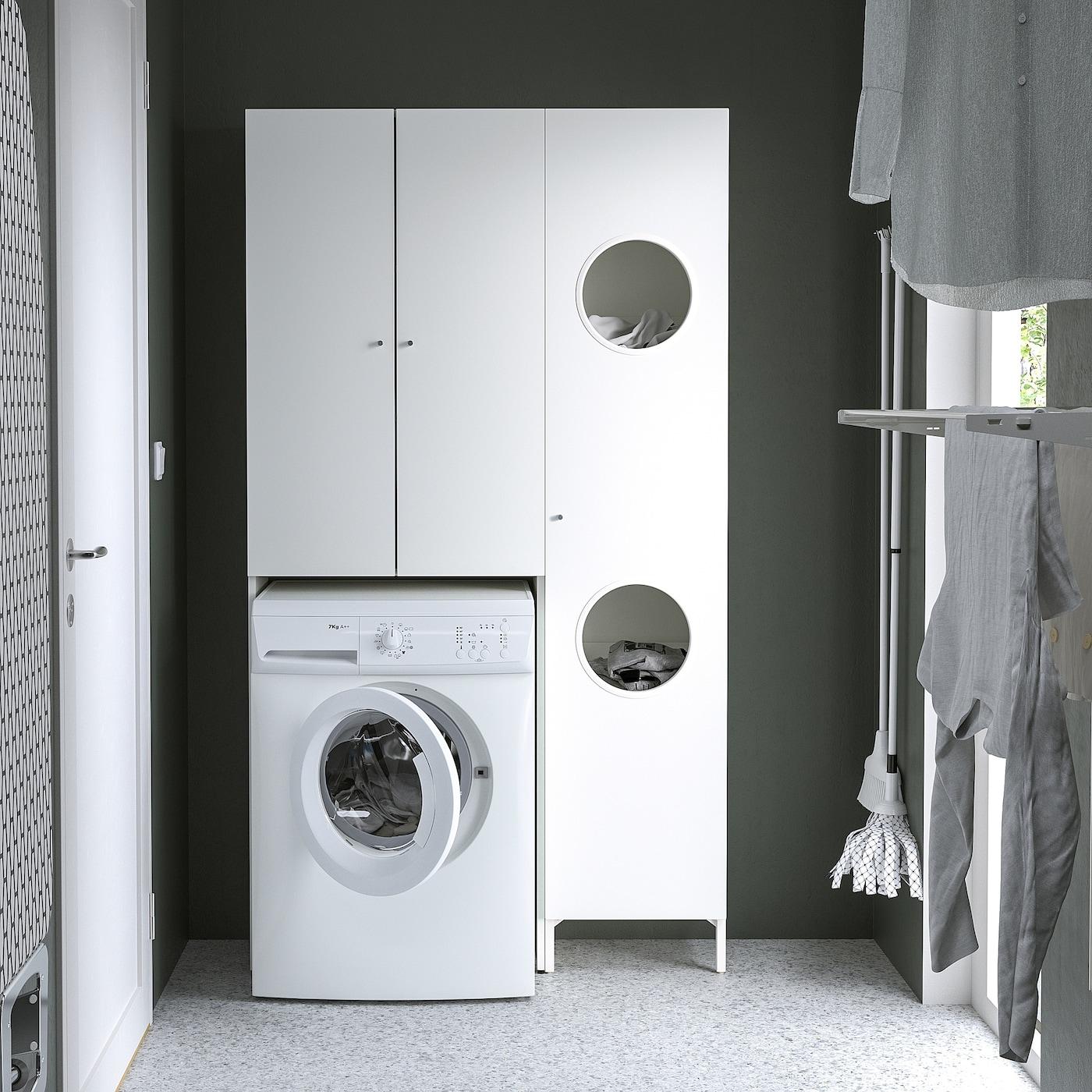 NYSJÖN Storage combination for laundry   white 20x20x20 cm