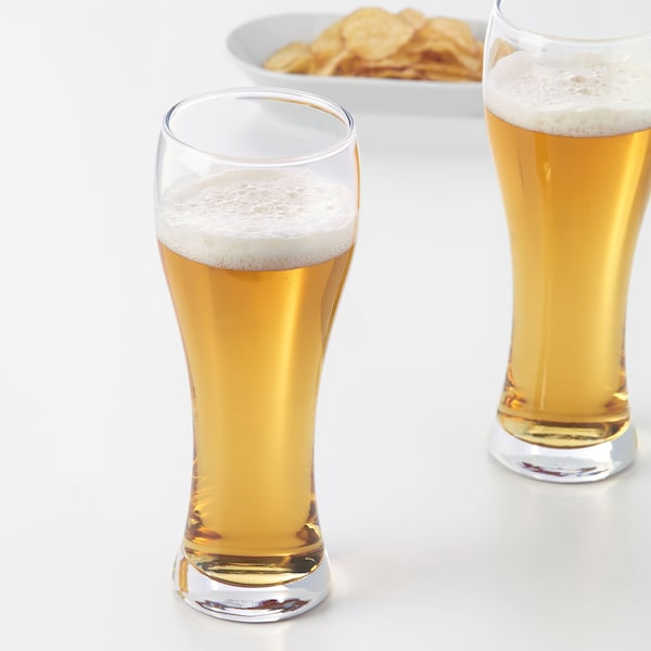 OANVÄND Beer glass, clear glass, 63 cl