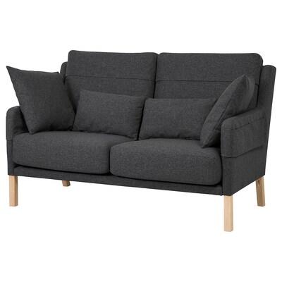 OMTÄNKSAM 2-seat sofa, Gunnared dark grey