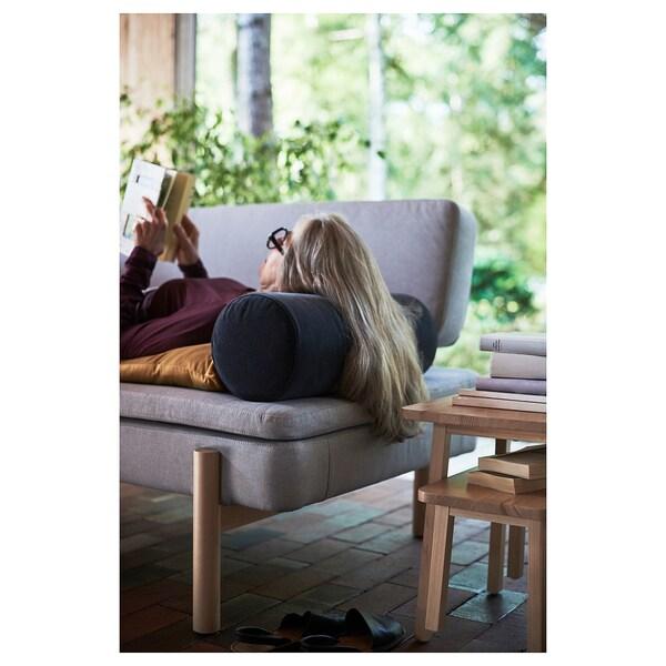 OMTÄNKSAM Armrest cushion, Djuparp dark grey, 18 cm