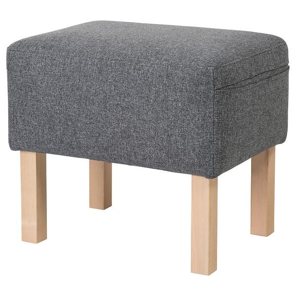 OMTÄNKSAM Footstool, Gunnared medium grey