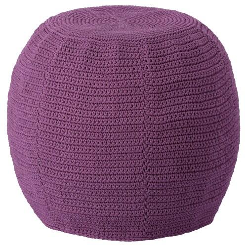 OTTERÖN pouffe cover, in/outdoor purple 41 cm 48 cm