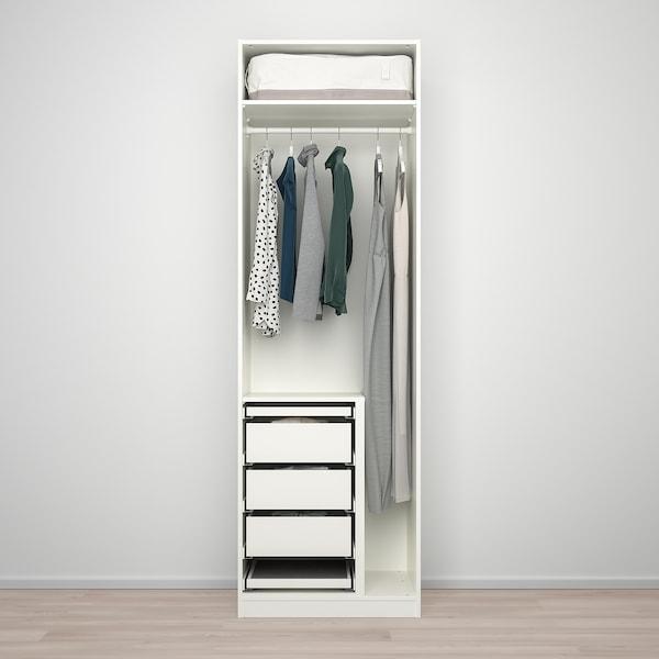 PAX / FORSAND/VIKEDAL Wardrobe combination, white/mirror glass, 75x60x236 cm