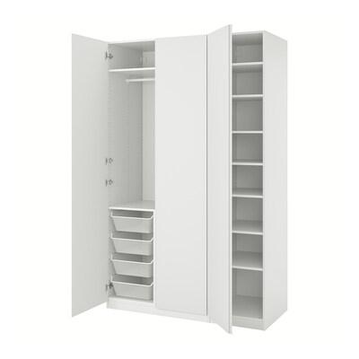 PAX / VIKANES Wardrobe combination, white, 150x60x236 cm