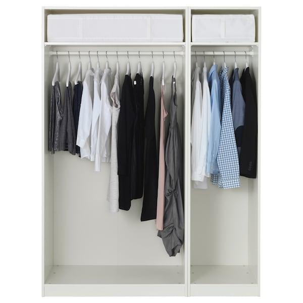 PAX Wardrobe, white/Forsand white, 150x60x201 cm