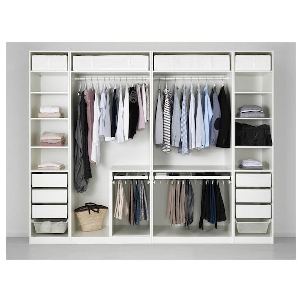 PAX wardrobe white Tyssedal/Tyssedal glass 300 cm 60 cm 236.4 cm
