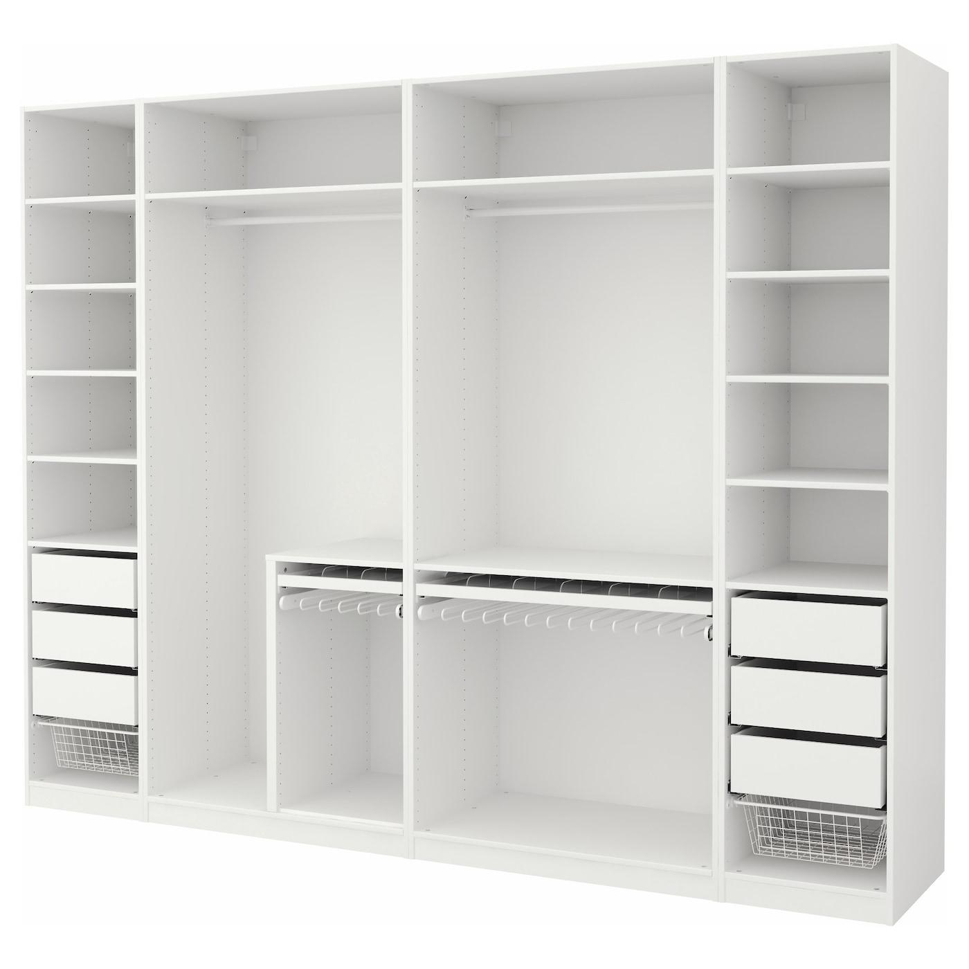pax wardrobe white 300 x 58 x 236 cm ikea
