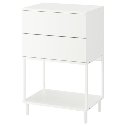 PLATSA chest of 2 drawers white/Fonnes 60 cm 42 cm 91 cm