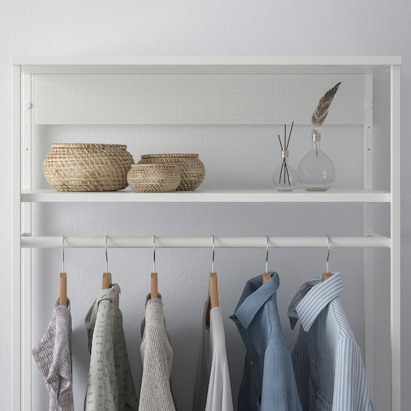 PLATSA Open clothes hanging unit, white, 80x40x180 cm