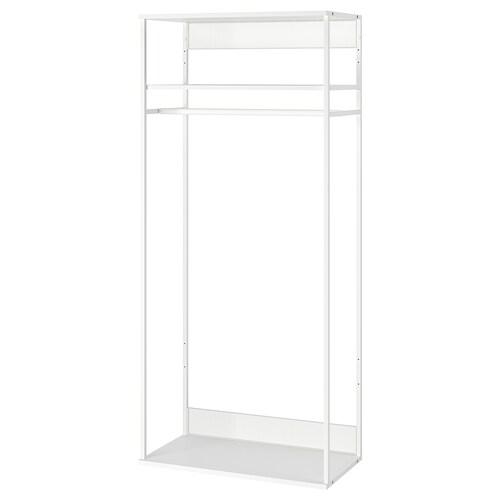 PLATSA open clothes hanging unit white 40 cm 80 cm 180 cm
