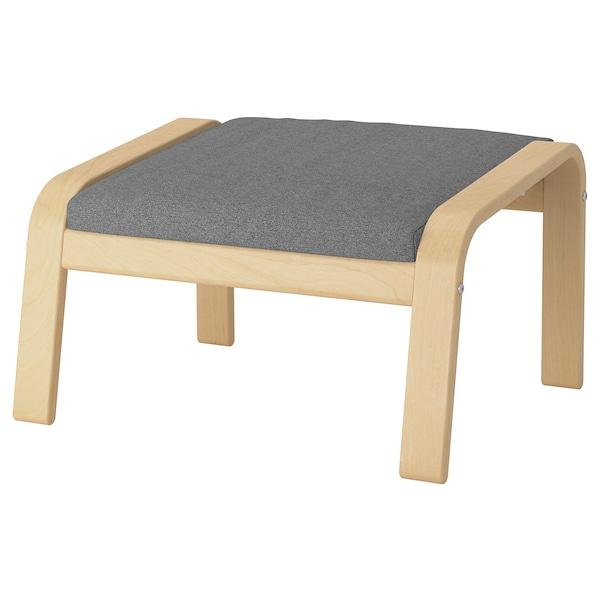 POÄNG footstool birch veneer/Lysed grey 68 cm 54 cm 39 cm 54 cm 54 cm 38 cm