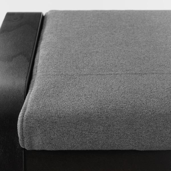 POÄNG Footstool, black-brown/Lysed grey