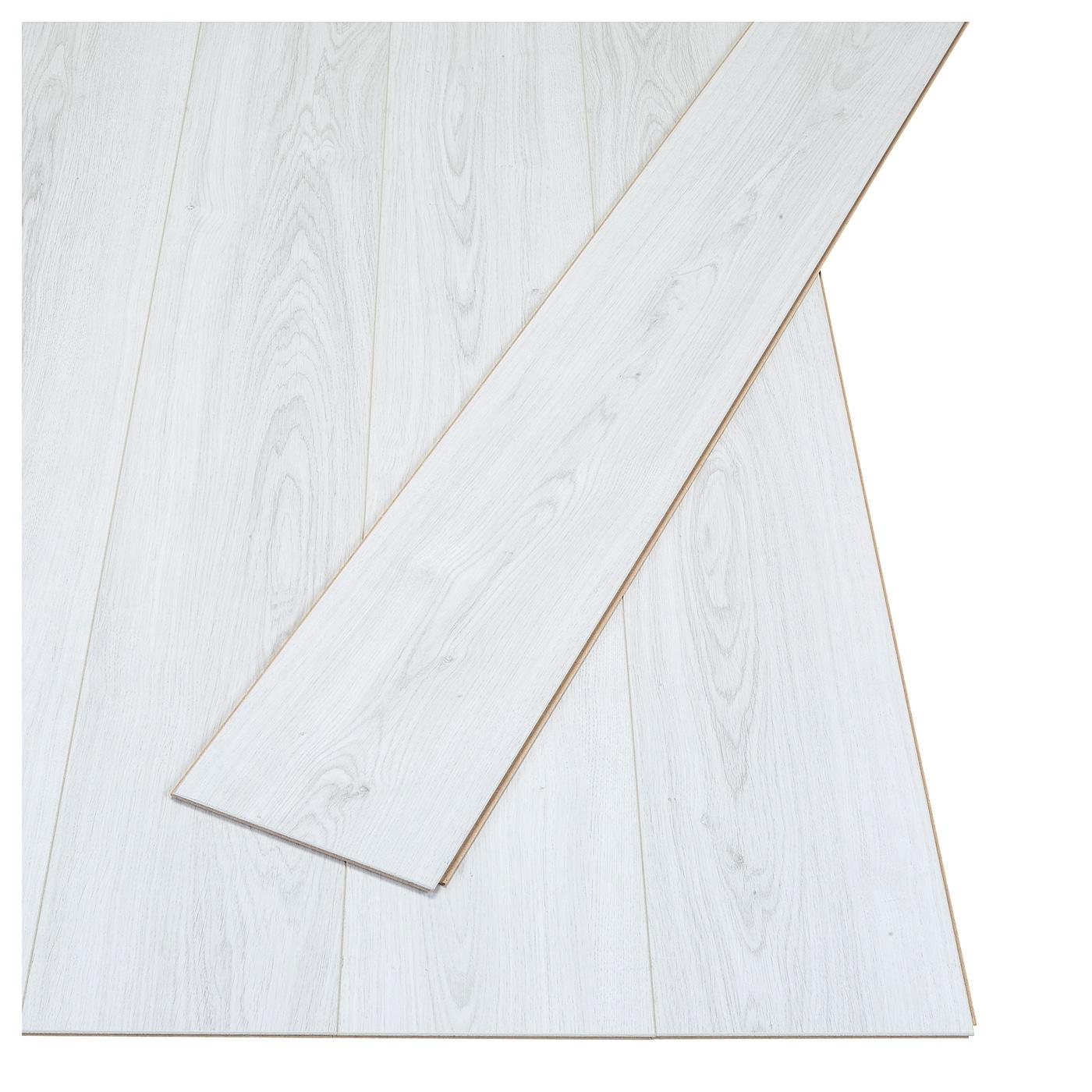 prÄrie laminated flooring oak effect/white 2.25 m² - ikea
