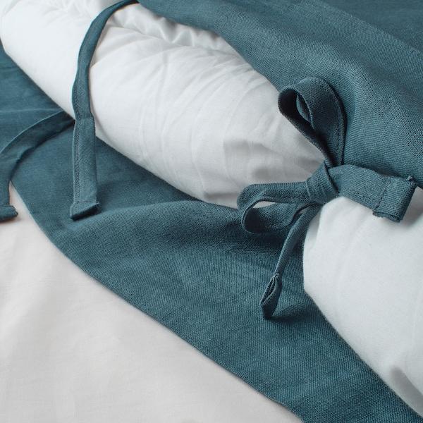 PUDERVIVA Duvet cover and pillowcase, dark blue, 150x200/50x60 cm