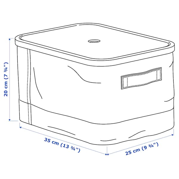RABBLA box with lid 25 cm 35 cm 20 cm