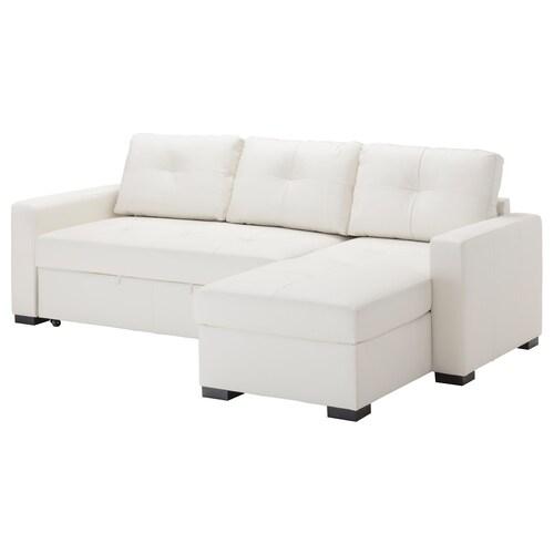 RAGUNDA corner sofa-bed with storage Bomstad white 236 cm 90 cm 88 cm 153 cm 68 cm 57 cm 44 cm 140 cm 200 cm