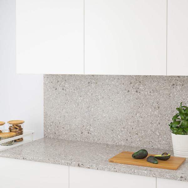 RÅHULT Custom made wall panel, grey/brown/mineral effect quartz, 1 m²x1.2 cm
