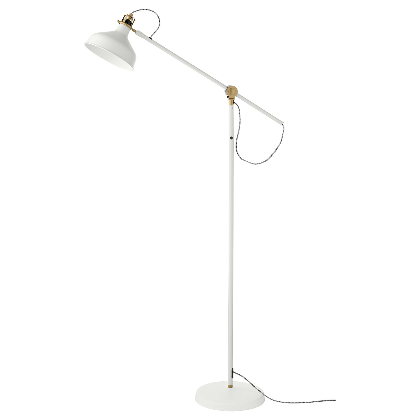 IKEA RANARP floor/reading lamp Provides directional light, great for reading.