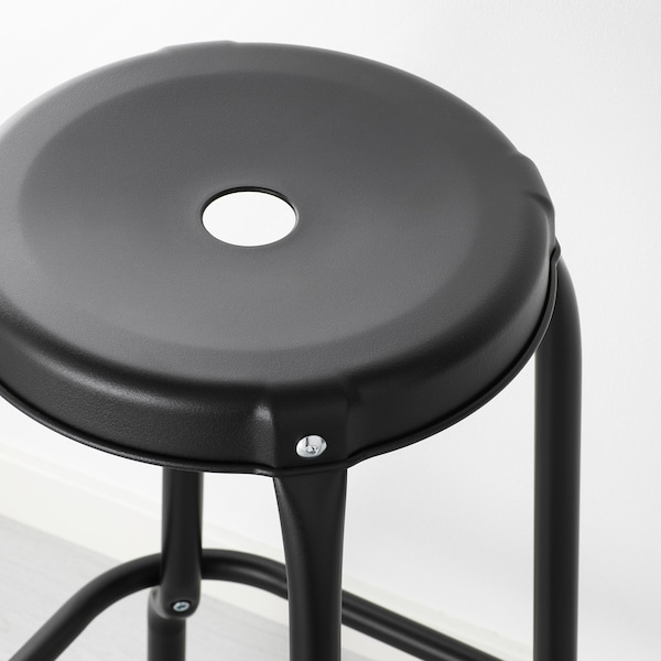 RÅSKOG Stool, black
