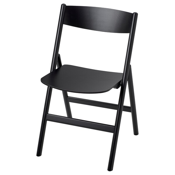 RÅVAROR Folding chair, black