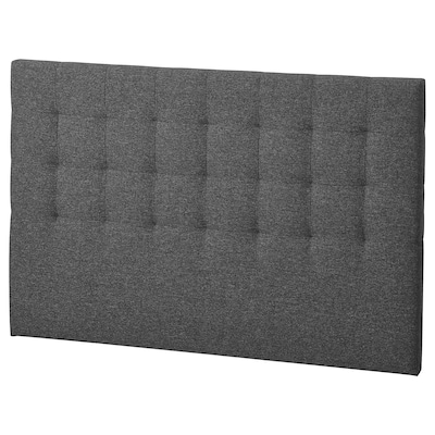 RYKKINN Headboard, Gunnared medium grey, 160 cm