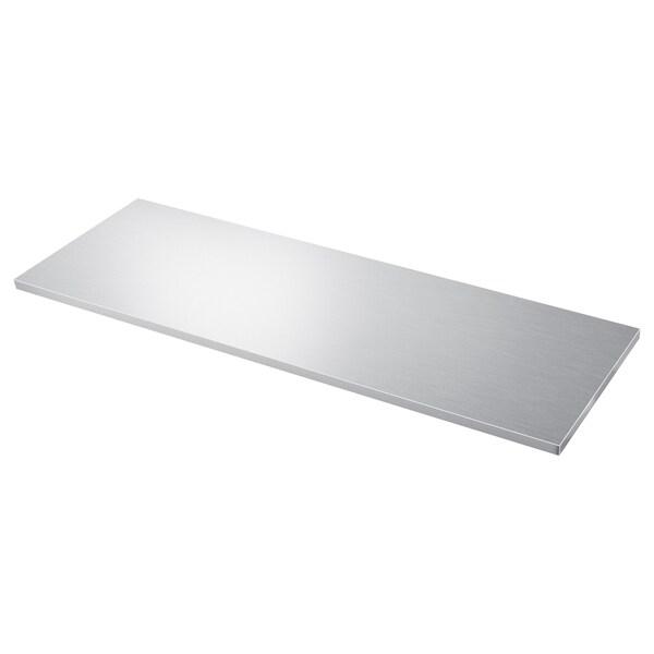 Saljan Custom Made Worktop Aluminium Effect Laminate Ikea