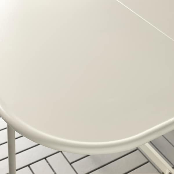 SALTHOLMEN gateleg table+4 chairs, outdoor beige/Frösön/Duvholmen dark grey