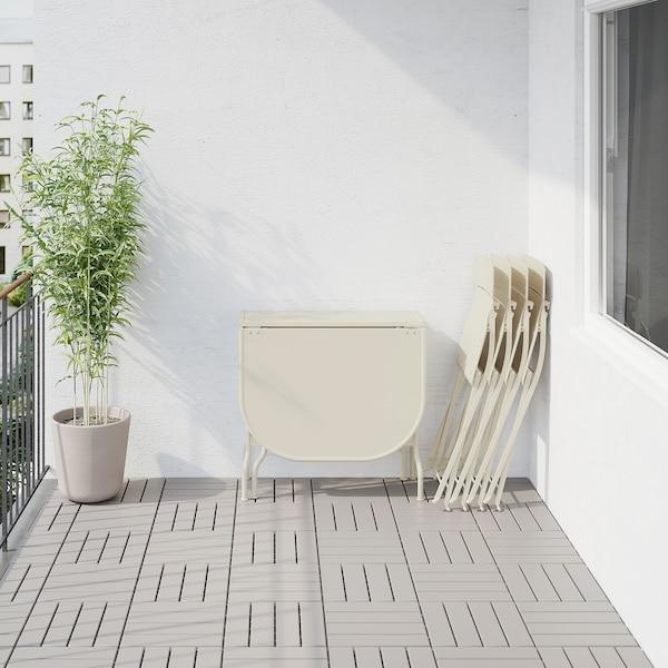 SALTHOLMEN gateleg table+4 chairs, outdoor beige/Frösön/Duvholmen red