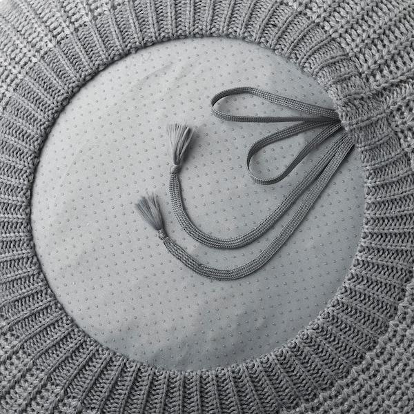 SANDARED Pouffe, grey, 56 cm