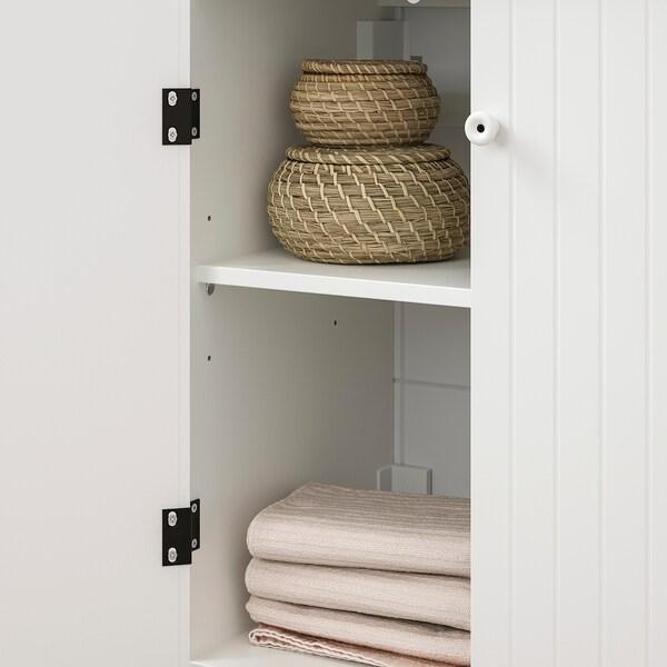 SILVERÅN / HAMNVIKEN Bathroom furniture, set of 6, white/Runskär tap, 63 cm