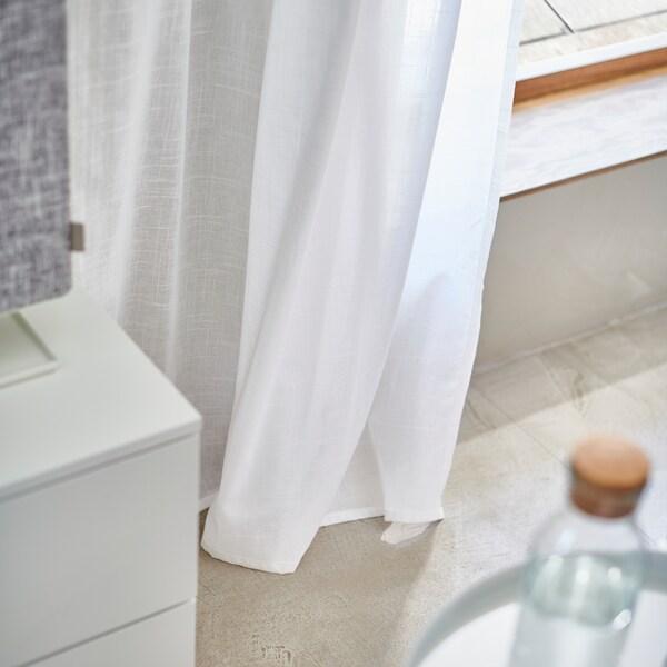SILVERLÖNN Sheer curtains, 1 pair, white, 145x300 cm