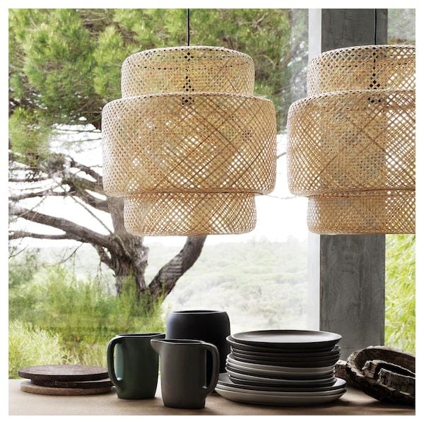 SINNERLIG Pendant lamp, bamboo/handmade
