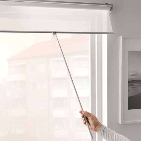 SKOGSKLÖVER Roller blind, white, 140x195 cm