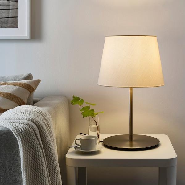 SKOTTORP / SKAFTET table lamp white/nickel-plated 53.5 cm 33 cm 29 cm 2.0 m 13 W
