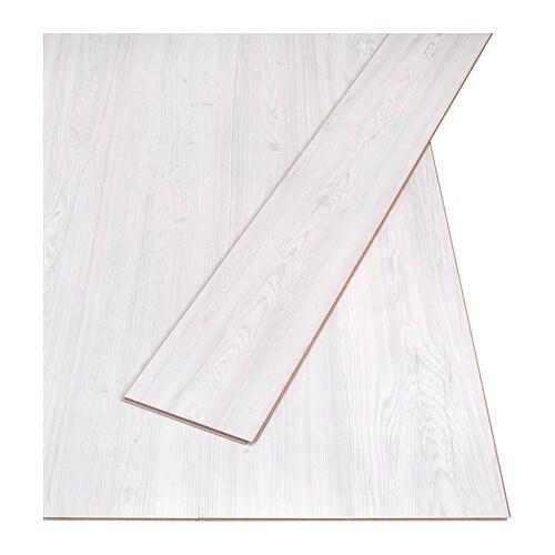 Sltten Laminated Flooring Pine Effectgrey White 300 M Ikea