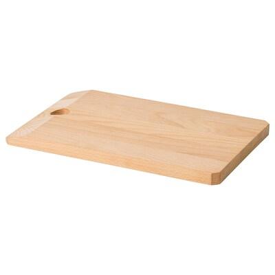 SMASKIGA Chopping board, beech, 28x18 cm