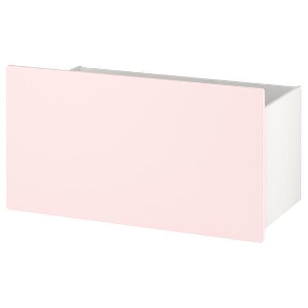 SMÅSTAD Box, pale pink, 90x49x48 cm