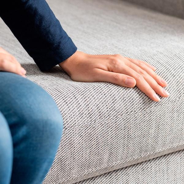 SMEDSTORP 3-seat sofa, Viarp beige/brown/black