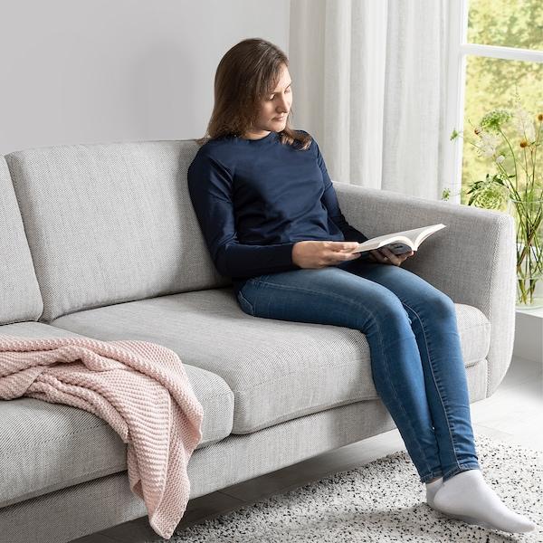 SMEDSTORP 3-seat sofa, Viarp beige/brown/oak