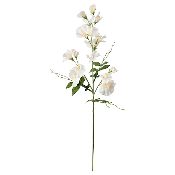 SMYCKA Artificial flower, Sweet pea/white, 60 cm