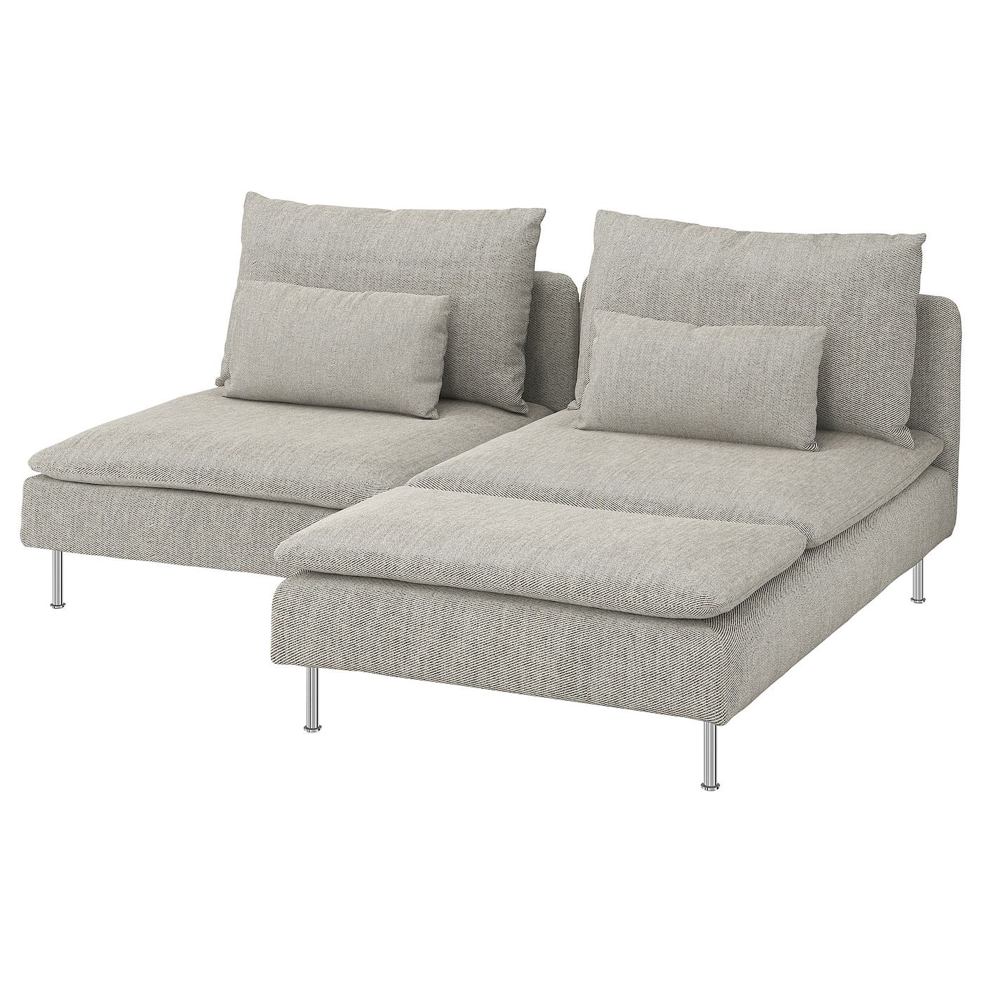 SÖDERHAMN 2-seat sofa - with chaise longue, Viarp beige ...