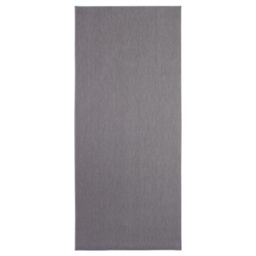 SÖLLINGE rug, flatwoven grey 150 cm 65 cm 3 mm 0.98 m² 1500 g/m²