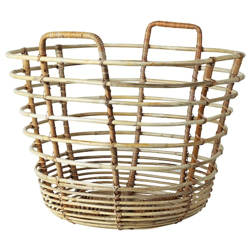 SOLBLEKT basket with handles rattan 44 cm 44 cm 41 cm 7 kg 70 l