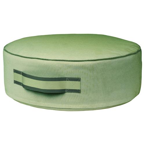 SOLBLEKT pouffe green 19 cm 55 cm