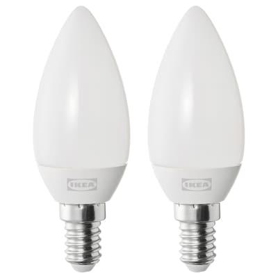 SOLHETTA LED bulb E14 250 lumen, chandelier/opal white