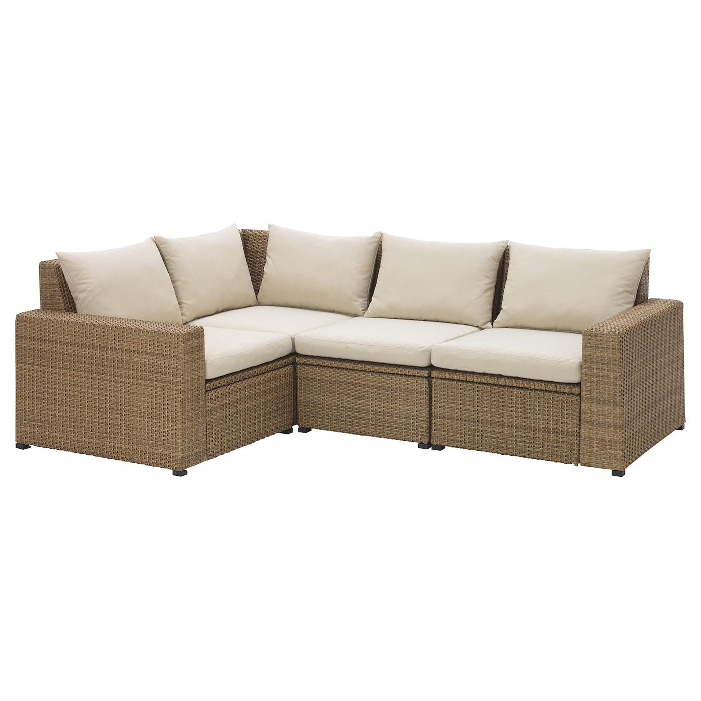 Solleron Corner Sofa 3 1 Outdoor Brown Hallo Beige Ikea