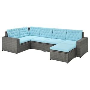 Colour: With footstool dark grey/kuddarna light blue.