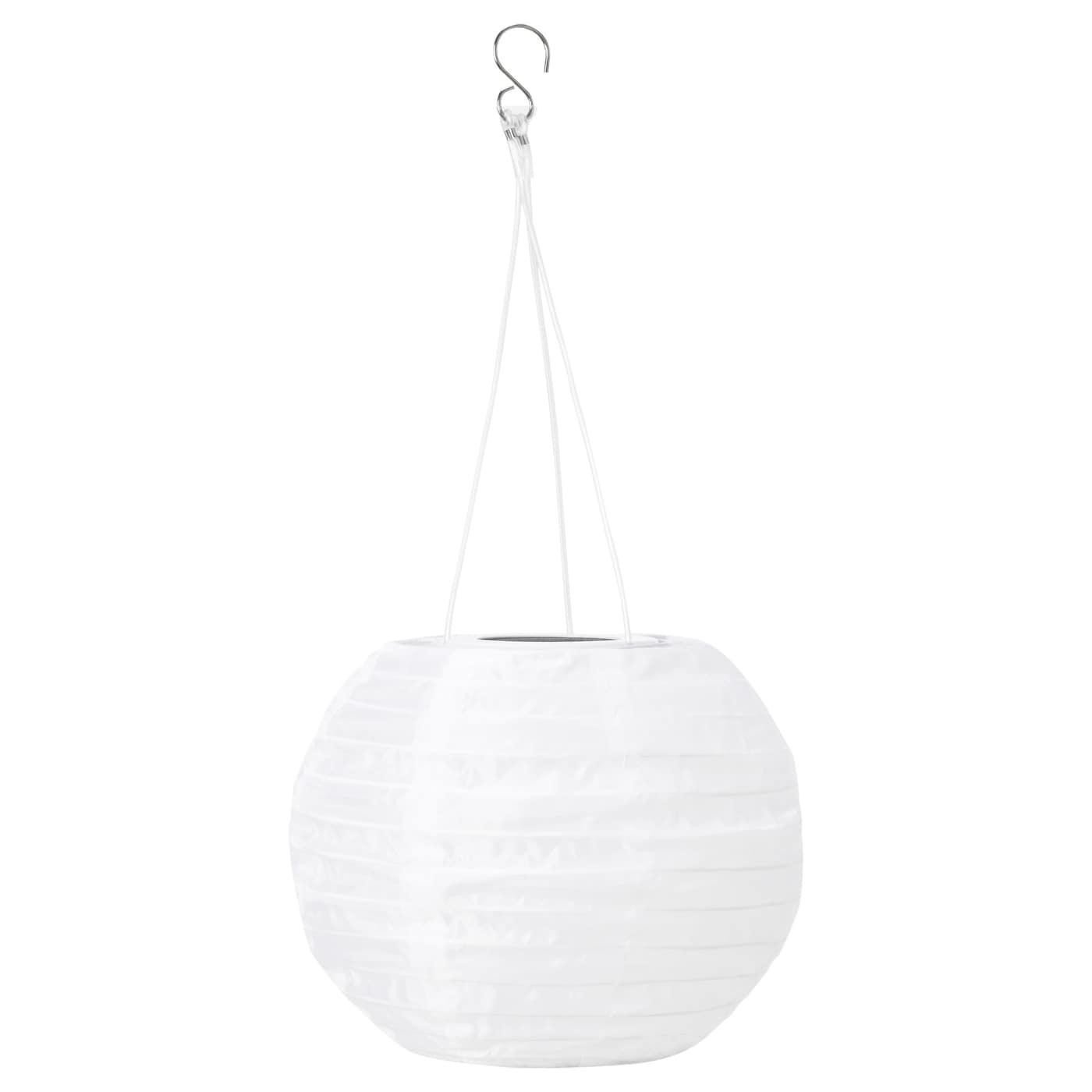 Solvinden Solar Powered Pendant Lamp Globe White 22 Cm Ikea