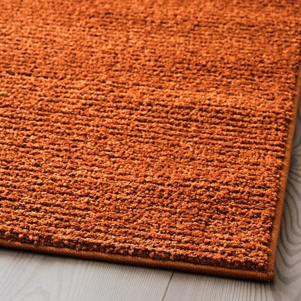 SPORUP Rug, low pile, brown, 200x300 cm